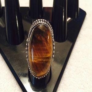 Beautiful huge Tiger Eye Ring